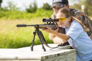 Child shooting BANISH suppressor