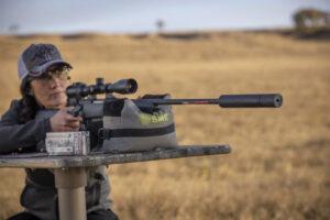 Melissa Bachman Shooting Rifle with Silencer