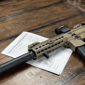 Firearm with paperwork
