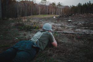 Shooting prone