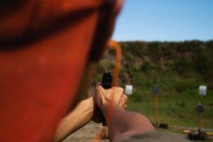 Pistol on the range